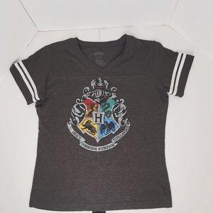 Harry Potter Hogwarts Crescent Seal T-shirt size L